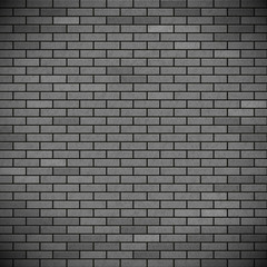 Grey brick wall. Industrial construction background. Stock vecto