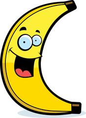 Cartoon Banana Smiling