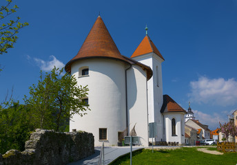 Old fortified church in the medieval town of Kranj, Slovenia