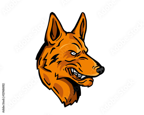 angry dog breed character logo brown german shepherd stock image rh fotolia com German Shepherd Drawings german shepherd lego