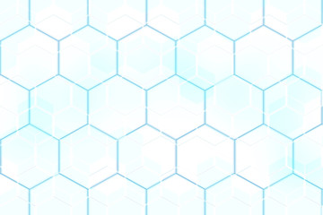 Blue white hexagonal abstract background mosaic design
