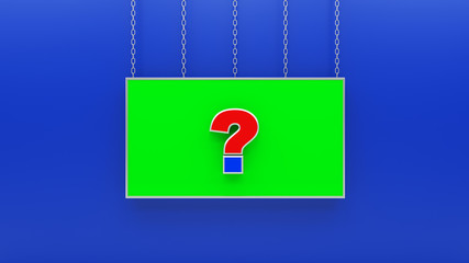 question mark symbols 3D rendering
