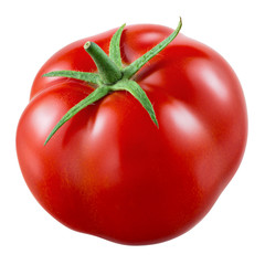Tomato. Fresh vegetable isolated on white. With clipping path.