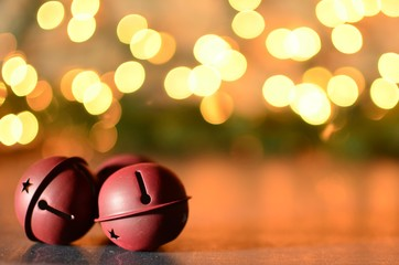 Jingle bells with bokeh background