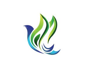 Modern Bird Logo - Elegant Abstract Dove