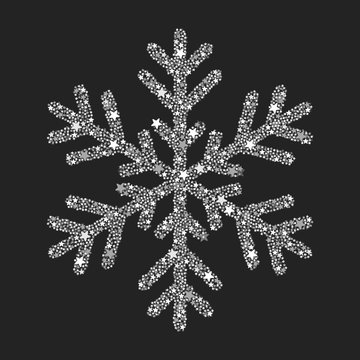 Silver snowflake from Christmas decoration.
