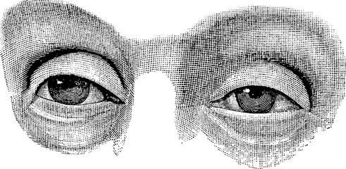 Vintage image eyes