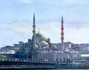 Beautiful large mosque