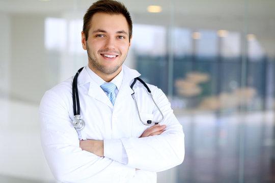 Smiling doctor man