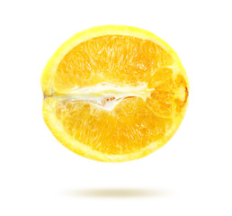 Photo yellow lemon in a cut