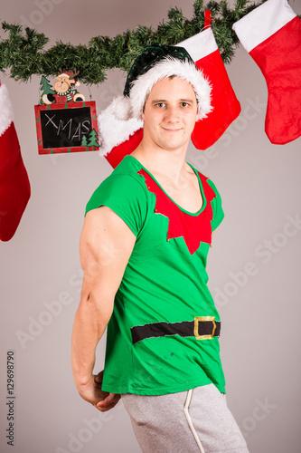 Funny Christmas elf\