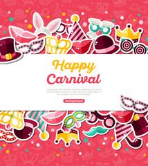 Carnival Horizontal White Frame