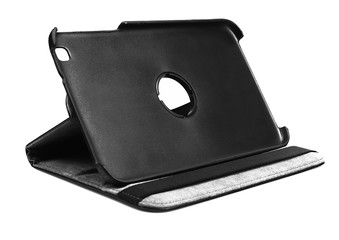 Tablet cover black open standing front