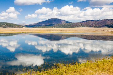 Jemez Lake in Valles Grande, New Mexico