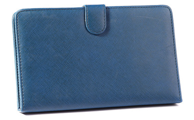 Tablet case wallet navy blue closed