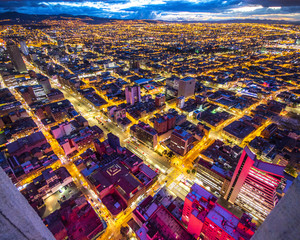 Bogota skyline at night