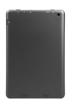 Tablet black silver metal back straight