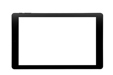 Tablet black design front straight