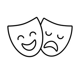 theater mask classic icon vector illustration design