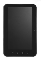 Tablet black with black shadow screen straight