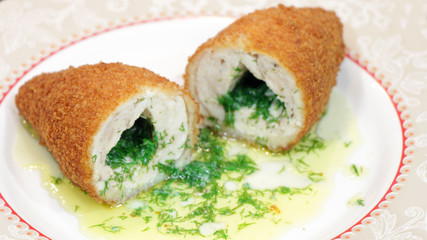 Chicken Kiev Stuffed with Herbs and Butter