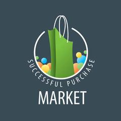 vector logo shopping bag