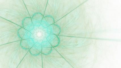 Pastellfarbener Hintergrund mit blütenartiger Form