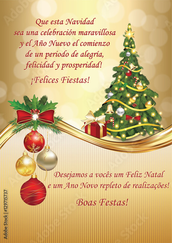 Corporate christmas and new year greeting card for clients and corporate christmas and new year greeting card for clients and business partners in spanish m4hsunfo