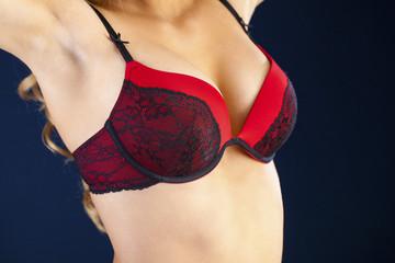 Woman breast in uplift