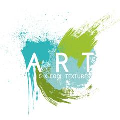 Spruzzi e macchie di colore artistici