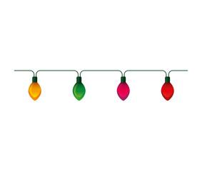 christmas lights decorative icon vector illustration design