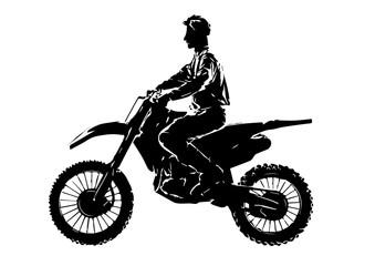 Shilouette Motocrosser