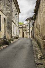 Street of French medieval village Saint Emilion, France