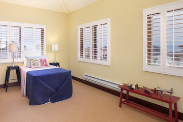 Tennager Room with Wood Shutters
