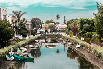 Canals in Venice, Los Angeles, California