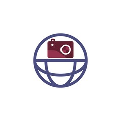 Global Camera Logo Design Element