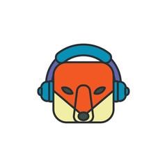 Music Fox Logo Design Element