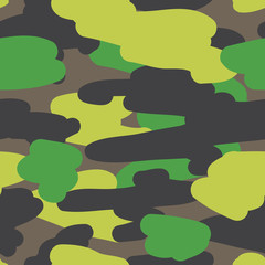 Seamless vector pattern camouflage coloring
