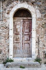 Door in a town in coastal Sicily