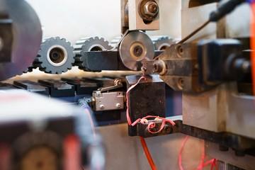 Wall Mural - Edging PVC. Photo of cutter machine, close-up