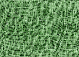 Green color cotton texture background.