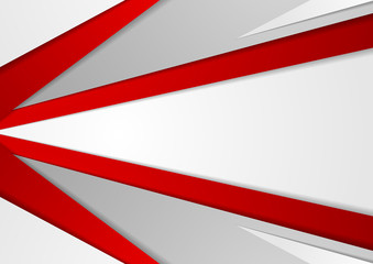 Abstract corporate red grey tech background