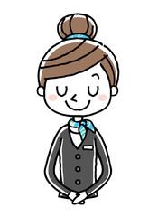 ビジネスウーマン:女性、お辞儀