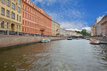 Petersburg. Walk through the channels