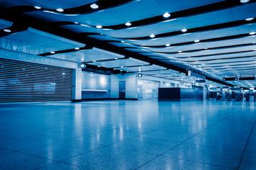 Empty Corridor Of modern airport in Shenzhen,China.