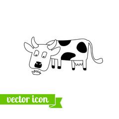 Cow icon vector 1