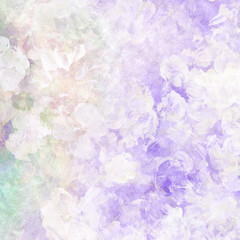Abstract watercolor hand painted floral background