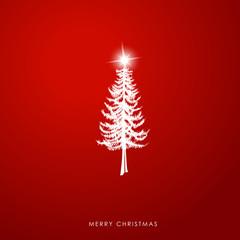 Christmas illustration greeting card template with pine Christma