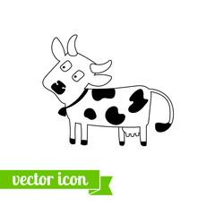 Cow icon vector 4