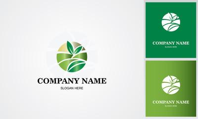 circle leaf organic logo